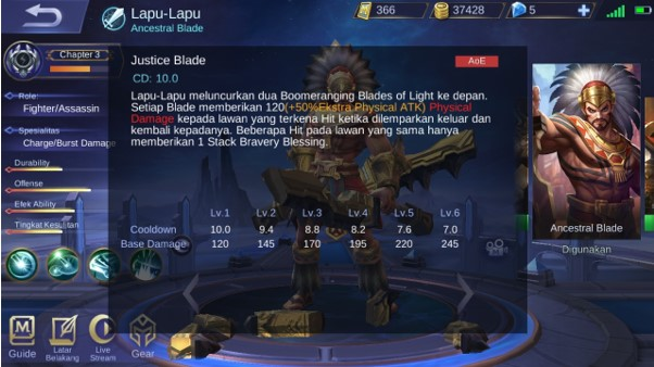 Skill 1 Lapu-Lapu Si Hero Fighter Mobile Legend