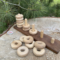 Wooden Stacking block, round shapes (PY31)