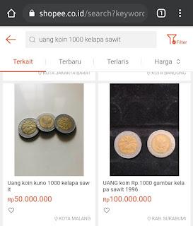 Benarkah uang koin 1000 kelapa sawit harganya ratusan juta rupiah?