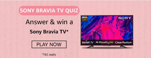 Amazon Sony Bravia TV Quiz Answers