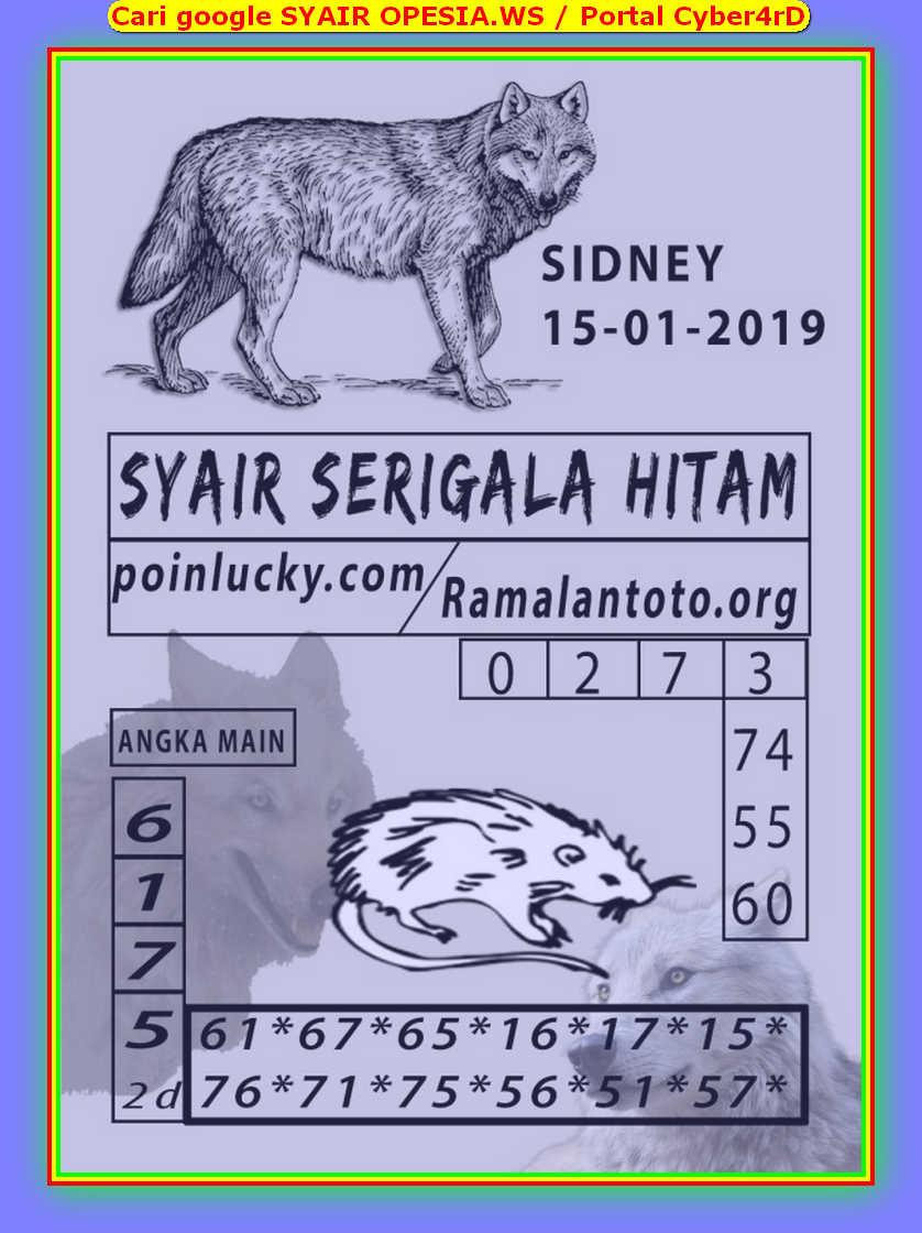 Kode syair Sydney Rabu 15 Januari 2020 58