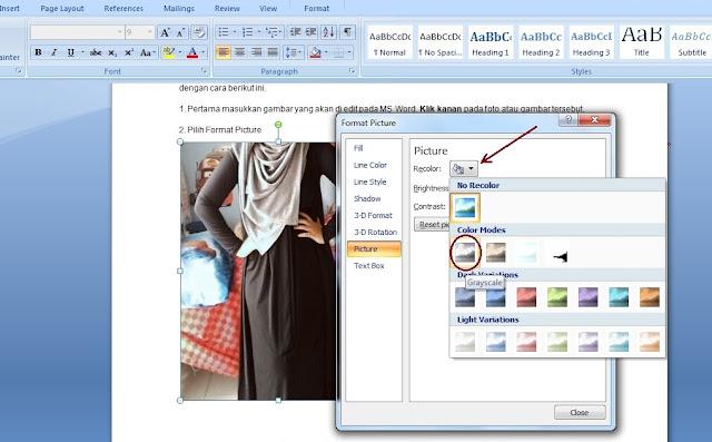 Foto hitam putih banyak dipakai untuk banyak keperluan sehari Cara Edit Foto di MS Word  Menjadi Hitam Putih