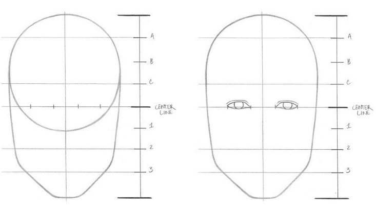 Langkah 3: Gambarlah Sepasang Mata