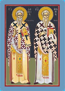 Αποτέλεσμα εικόνας για αγιος διονυσιος αρεοπαγιτης και αγιος ιεροθεος