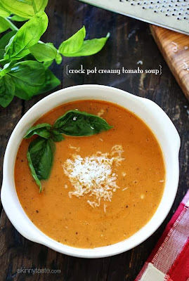 Crock Pot Creamy Tomato Soup from Skinnytaste [featured on SlowCookerFromScratch.com]