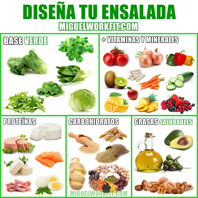 Diseña tu ensalada