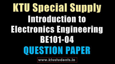 KTU Introduction to Electronics Engineering BE101-04