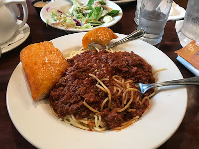 Homemade Spaghetti at Louie's Steak & Seafood, Kenai, Alaska