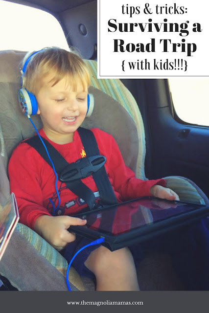 Tips and tricks to surviving a road trip with kids! Road trip with the whole family - great ideas to pass the time!