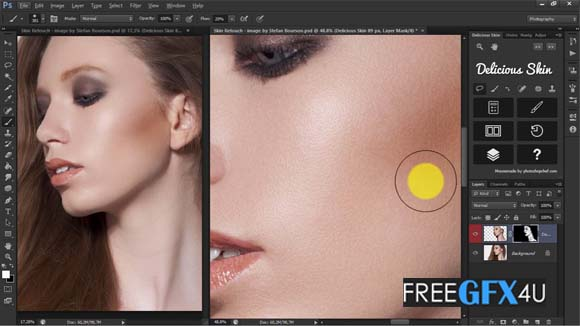 Delicious Skin Retouching v2 Photoshop Plugin