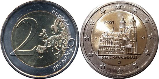 Germany 2 euro 2021 - Saxony-Anhalt