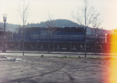 GATX SD40-2 #7350 at Hoyt Street Yard in Portland, Oregon