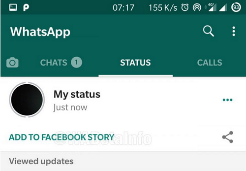 See How to Share Your WhatsApp Status as Facebook Stories