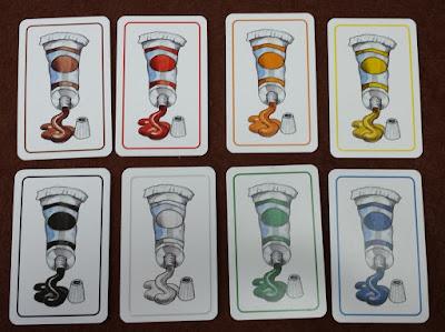 楽しい色並べ Farben Lernen 絵の具カード