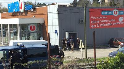 Une prise d'otage à Trèbes en France
