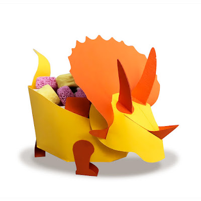 Dinosaur Birthday Party Ideas Triceratops Treat Box
