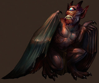 Popobawa, or bat-wing, an incubus with bat wings and sharp teeth