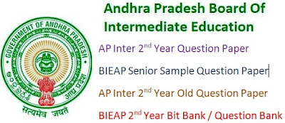 AP Inter 2nd year - Senior Model Questions Papers 2016