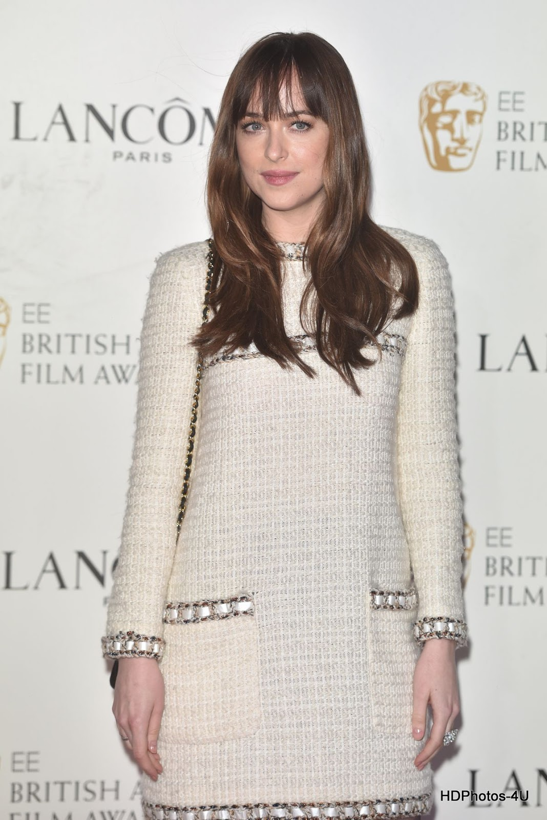 Full HQ Photos of Dakota Johnson at Lancome Bafta 2016 Nominees Party in London