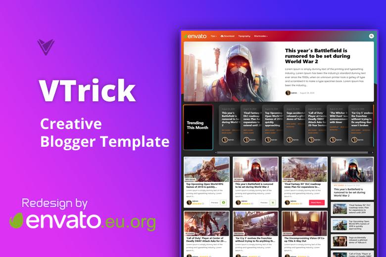 VTrick Redesign - Creative Blogger Template v.1.5