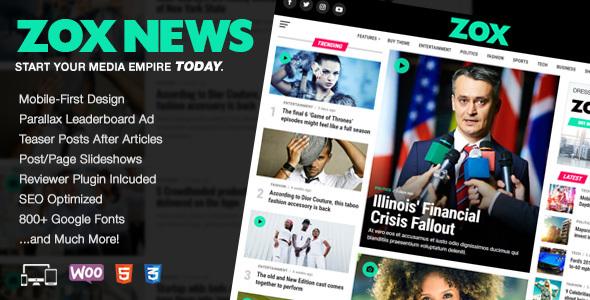 Zox News v3.1.1 - Tin tức WordPress chuyên nghiệp