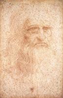 Self portrait, by Leonardo da Vinci.