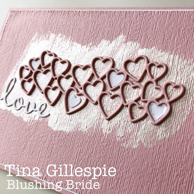 scissorspapercard, Stampin' Up!, Colour Creations, Stitched be Mine Dies, Well Written Dies, Subtle 3DEF, Shimmer Paint