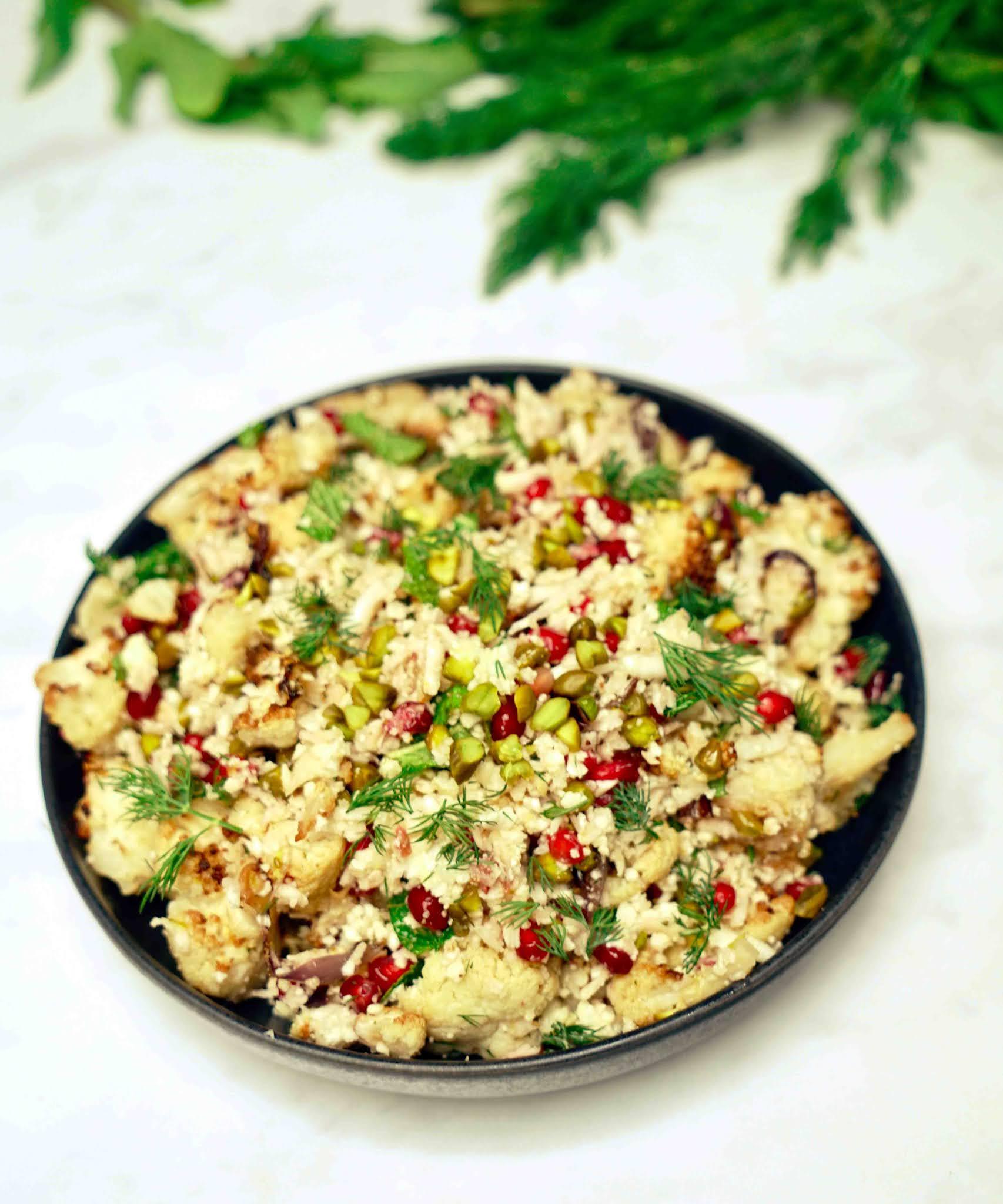 salade, chou-fleur , ottolenghi