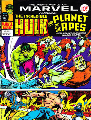 Mighty World of Marvel #243, Hulk and Planet of the Apes