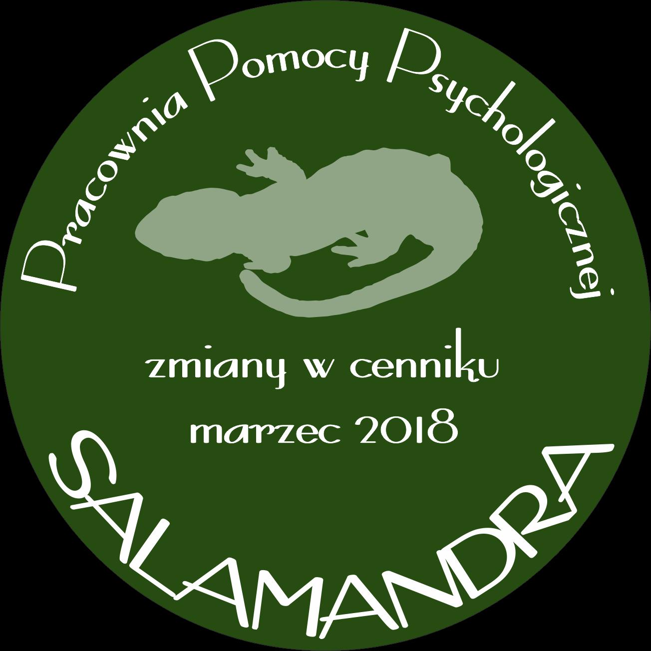 Zmiany w cenniku usług psychologicznych - marzec 2018