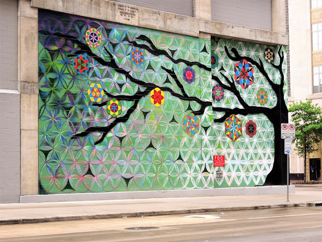 Tree of Life Mural at former site of Houston Club Building in Downtown Houston