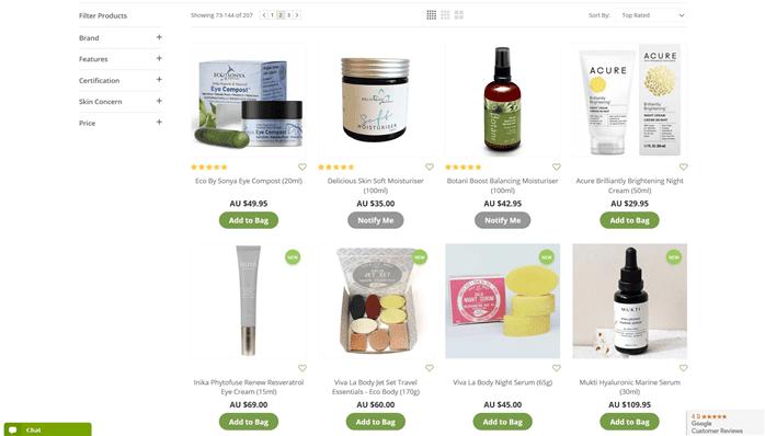 オーストラリアのおすすめスキンローション商品一覧画像