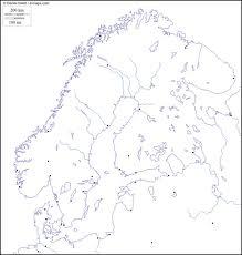 Cartina Europa Muta A4