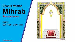 Desain Vector Mihrab Free CDR