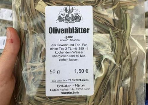 Η Γερμανία εισάγει αποξηραμένα φύλλα ελιάς από την Αλβανία και τα πουλάει 30 ευρώ το κιλό