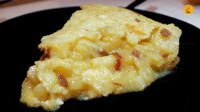 Tortilla de brie trufado y jamón en Pez Tortilla Madrid