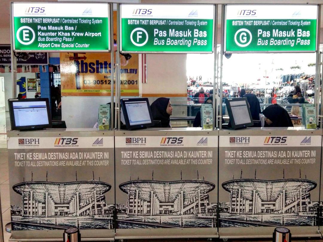 Perkhidmatan di Terminal Bersepadu Selatan TBS