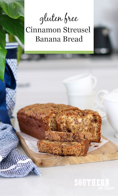 Easy Cinnamon Streusel Banana Bread Recipe Gluten Free.