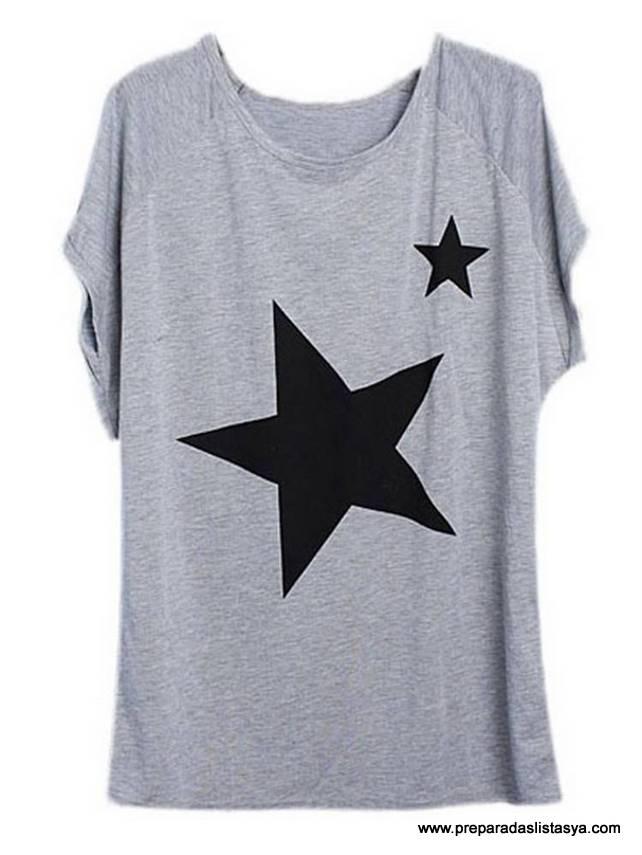Camiseta estrellas Newchic