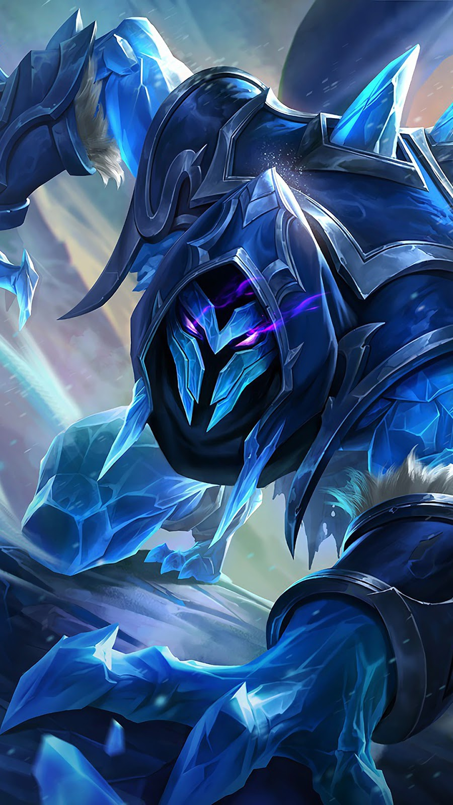 Wallpaper Helcurt Ice Scythe Skin Mobile Legends HD for Android and iOS