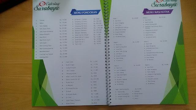 Buku Daftar Menu dan Harga