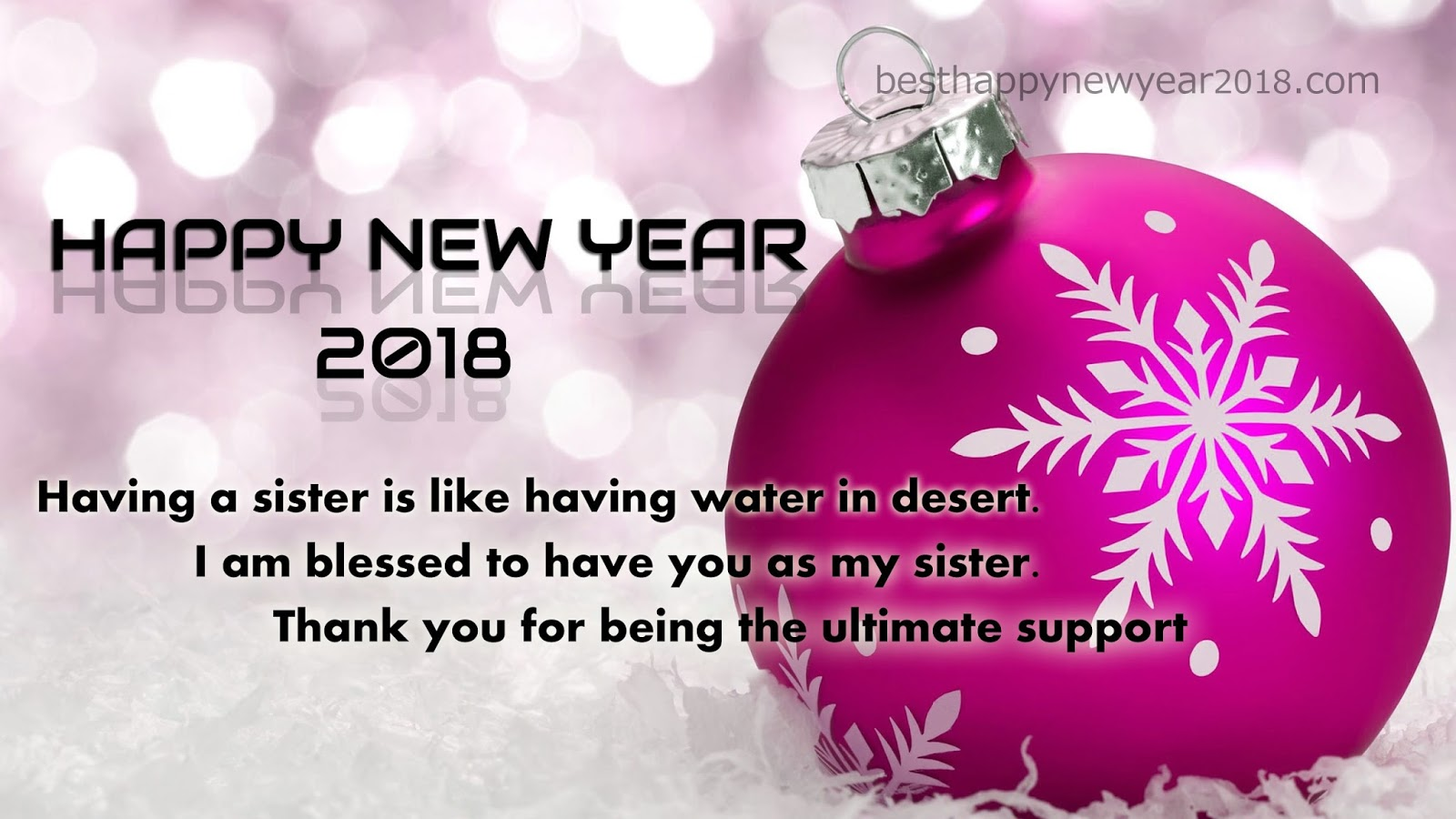 New year 2018 quotes for sister latest happy new year wishes sms thank you for being the ultimate support and happy new year new2byear2b20182bgreetings kristyandbryce Choice Image