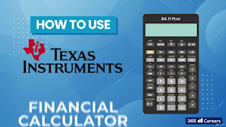 Texas Instruments BA II Financial Calculator for CFA and FRM