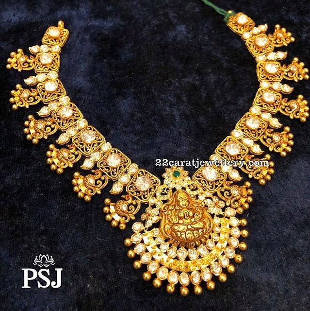 Moissanite Choker with Lakshmi by Premraj