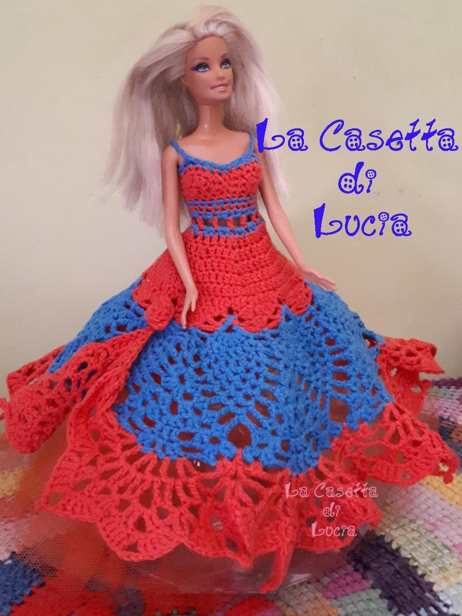 La Casetta Di Lucia Abito Da Principessa A Uncinetto Per Barbie