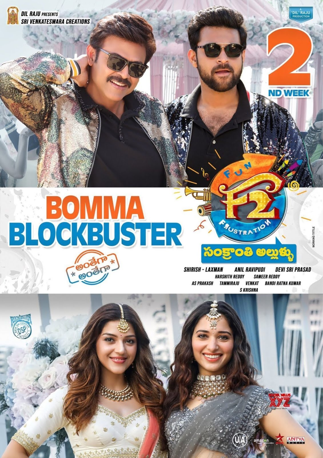 F2 Fun and Frustration 2019 Dual Audio Hindi 500MB UNCUT HDRip 480p ESubs