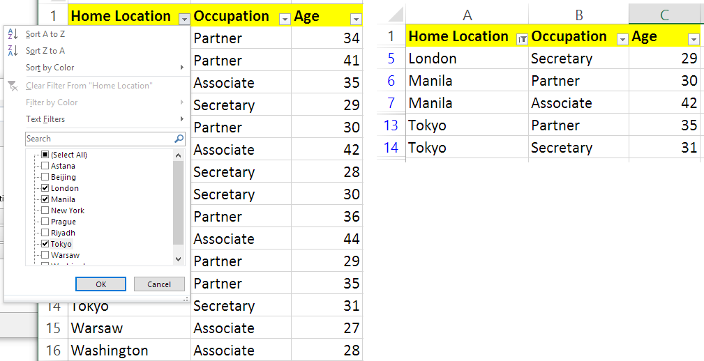 UIPath] How to filter multiple dynamic values in one column using
