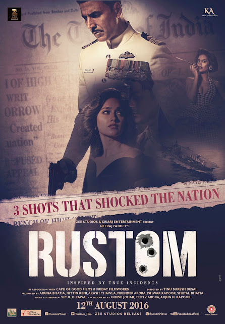 Rustom, Rustom Movie, Movie, Filem, Movie Review, Filem Rustom, Poster Rustom, Bollywood, India, Cerita Hindustan, Bollywood Movie, Hindi Movie, 2016, Rustom Review, Rustom Cast, Pelakon Filem Rustom, Akshay Kumar, Ileana D'cruz, Arjan Bajwa, Esha Gupta, Pawan Malhotra, Anang Desai, Usha Nadkarni, Ending, OST Rustom, Best Actor,