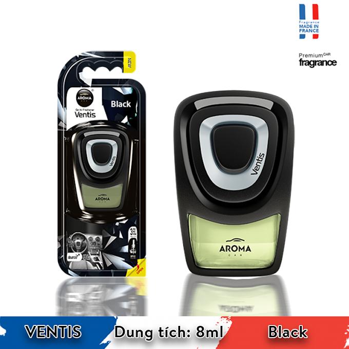 Nước hoa ô tô Aroma Car Ventis 8ml - Black