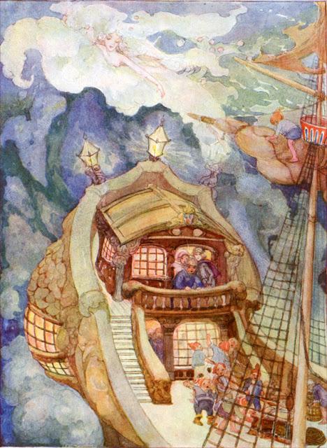 """""""La sirenita"""". Ilustración de Anne Anderson"""